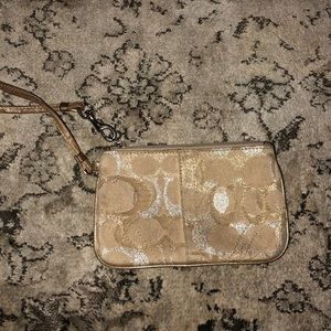GOLD AND SILVER COACH WRISTLET